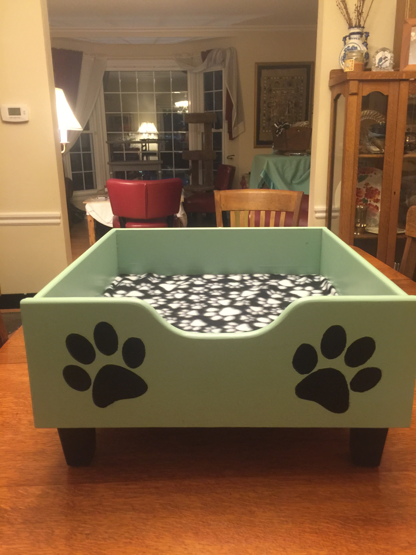 Turquois Dog Bed   $115