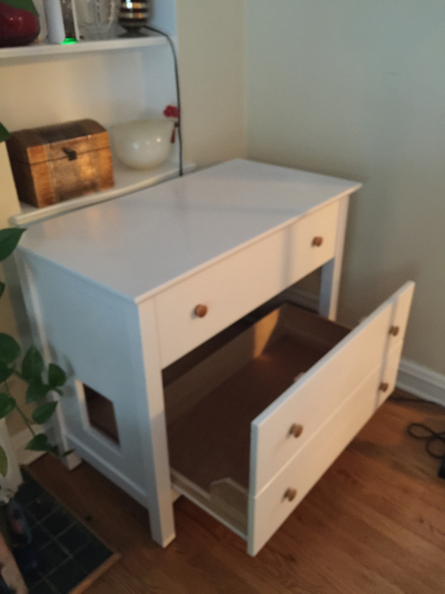 SOLD - White 3 Drawer Cabinet  $250