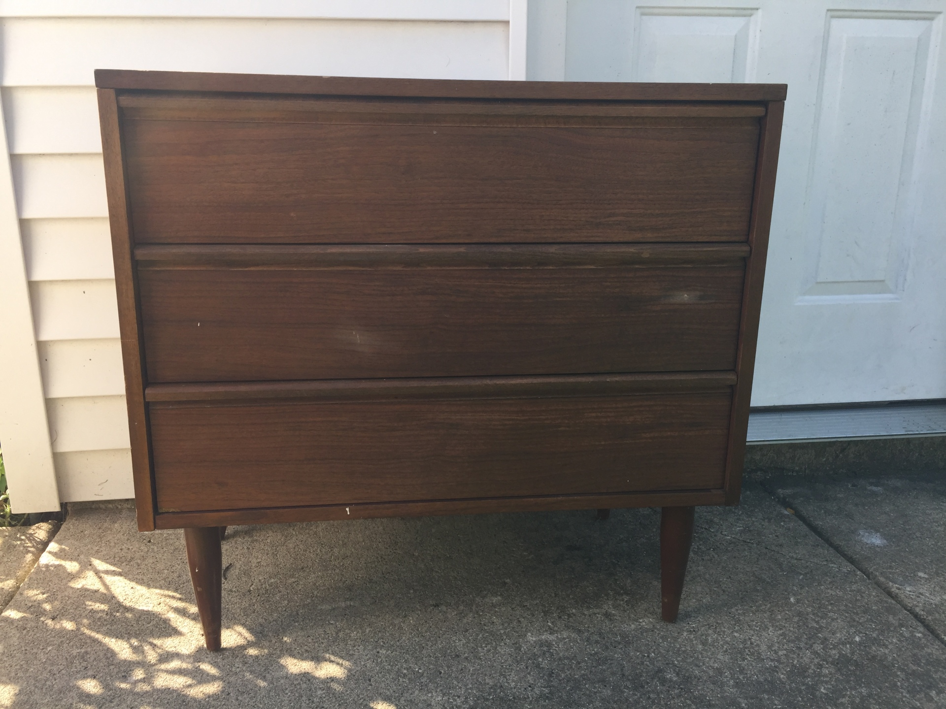 Mid-century - $175  Bottom & center drawers for  litter box. Top drawer for supplies