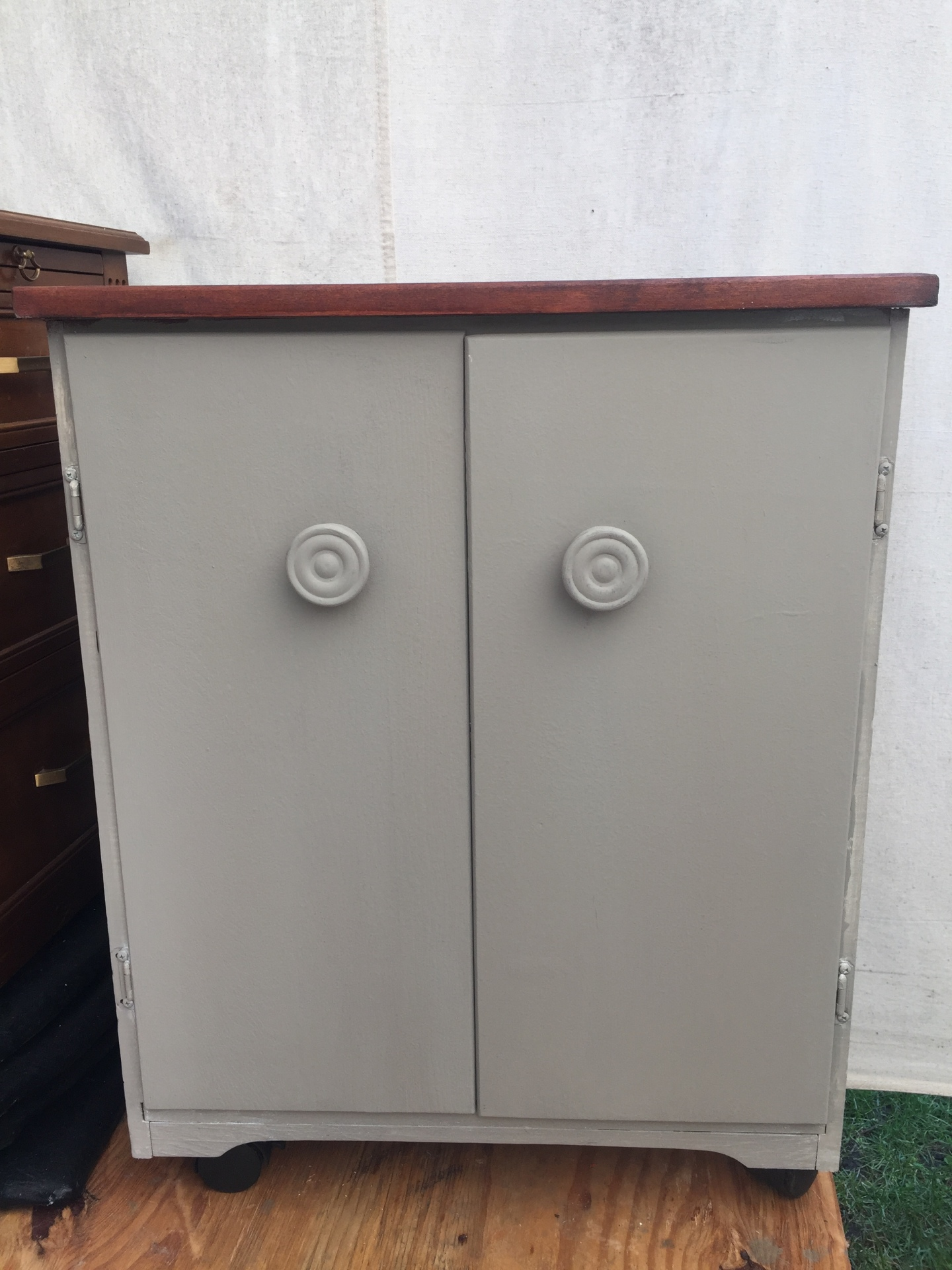 Wooden cabinet $125 - front access for cleaning litter box