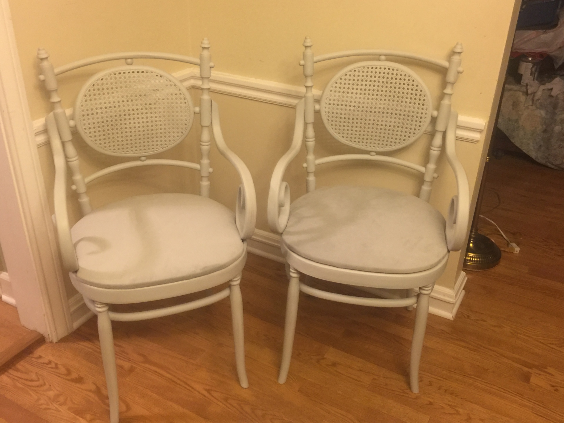 Vintage Chairs - Light Gray $85/pair