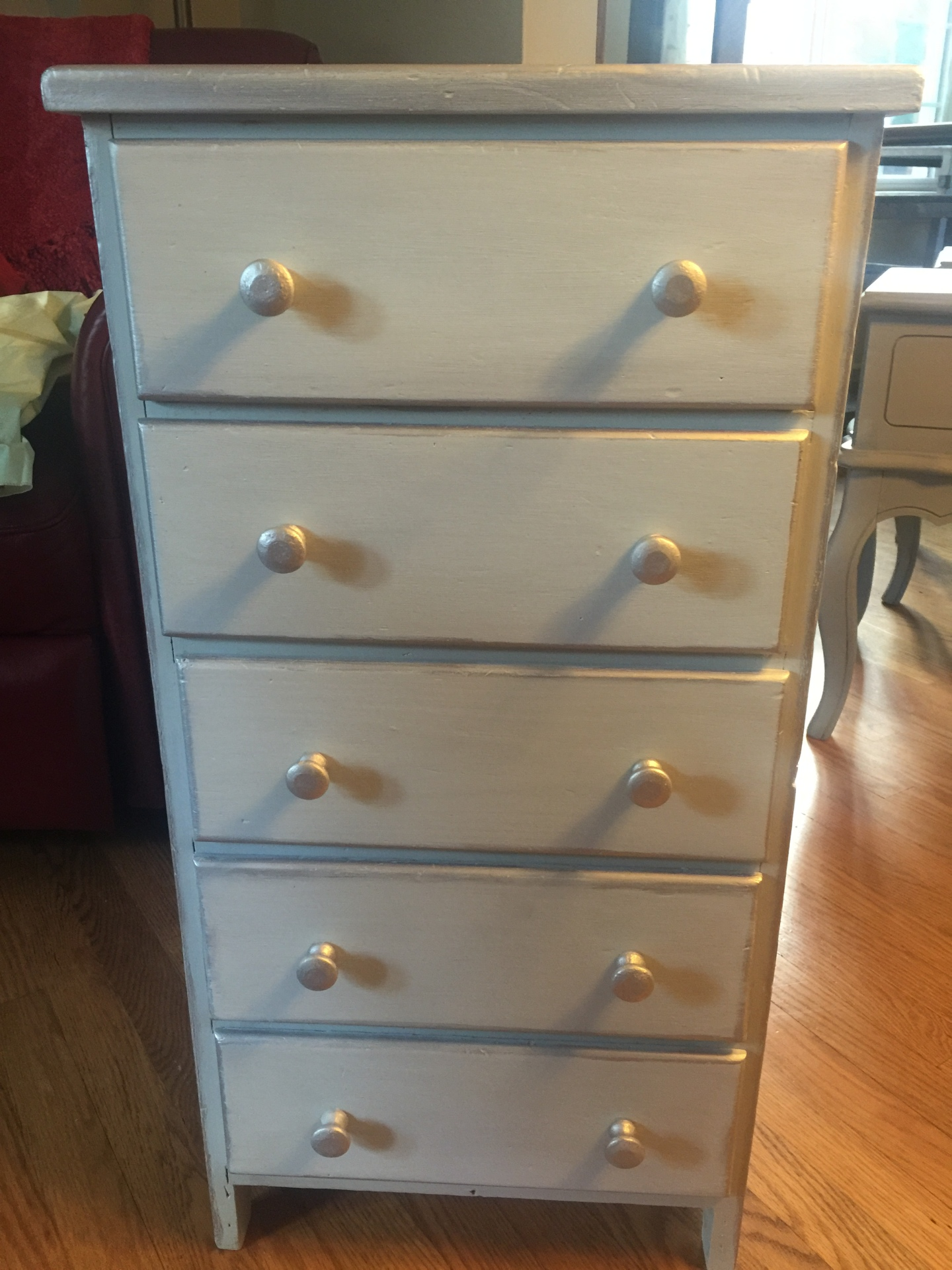 Ice Gray and Silver Small Night Stand/Dresser  $125