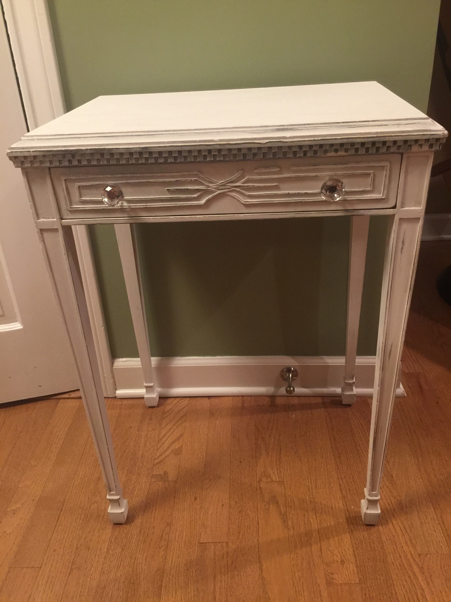 Vintage Shabby Chic Entry Table  $125