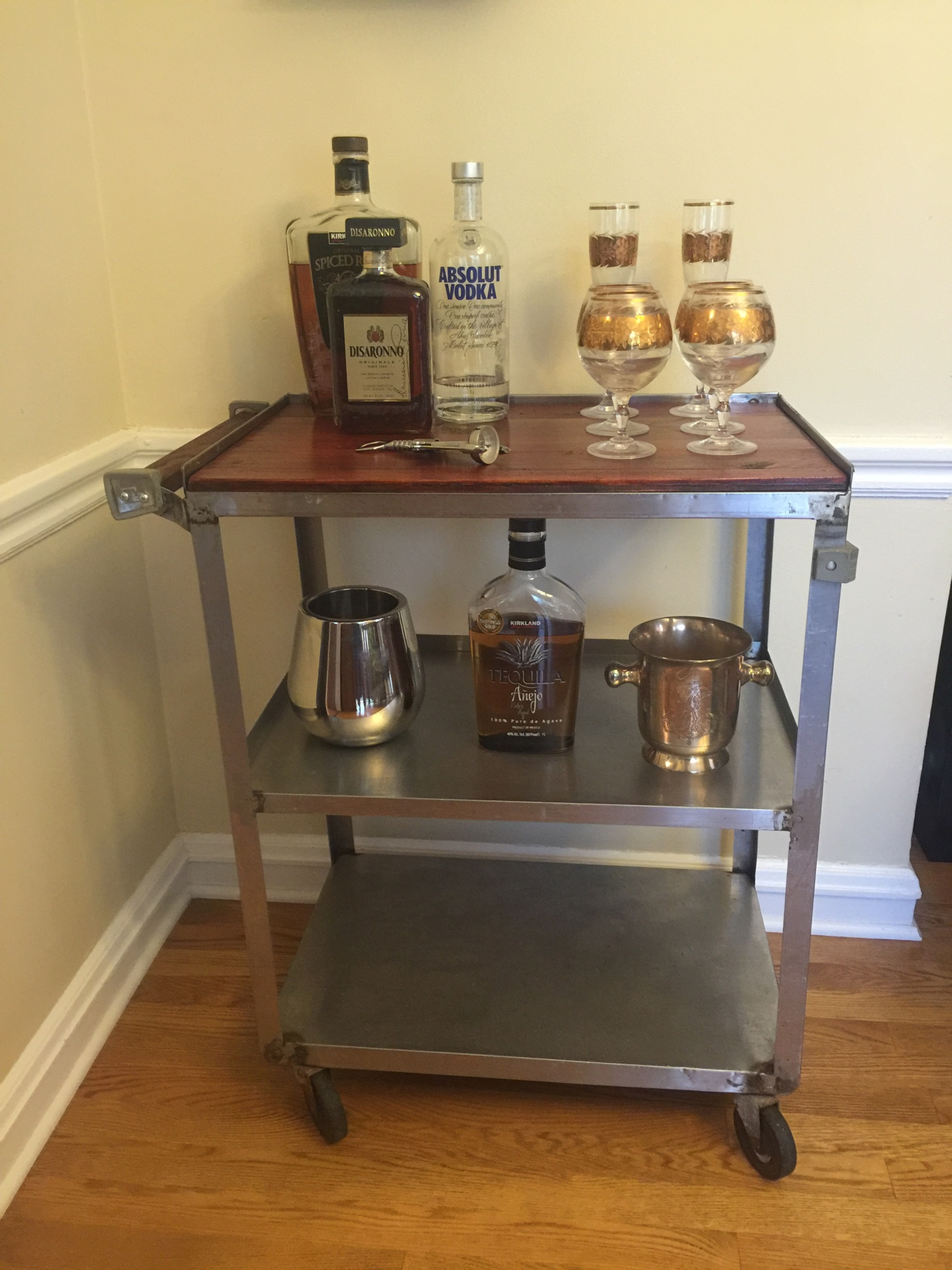 Rolling Bar Cart  $145