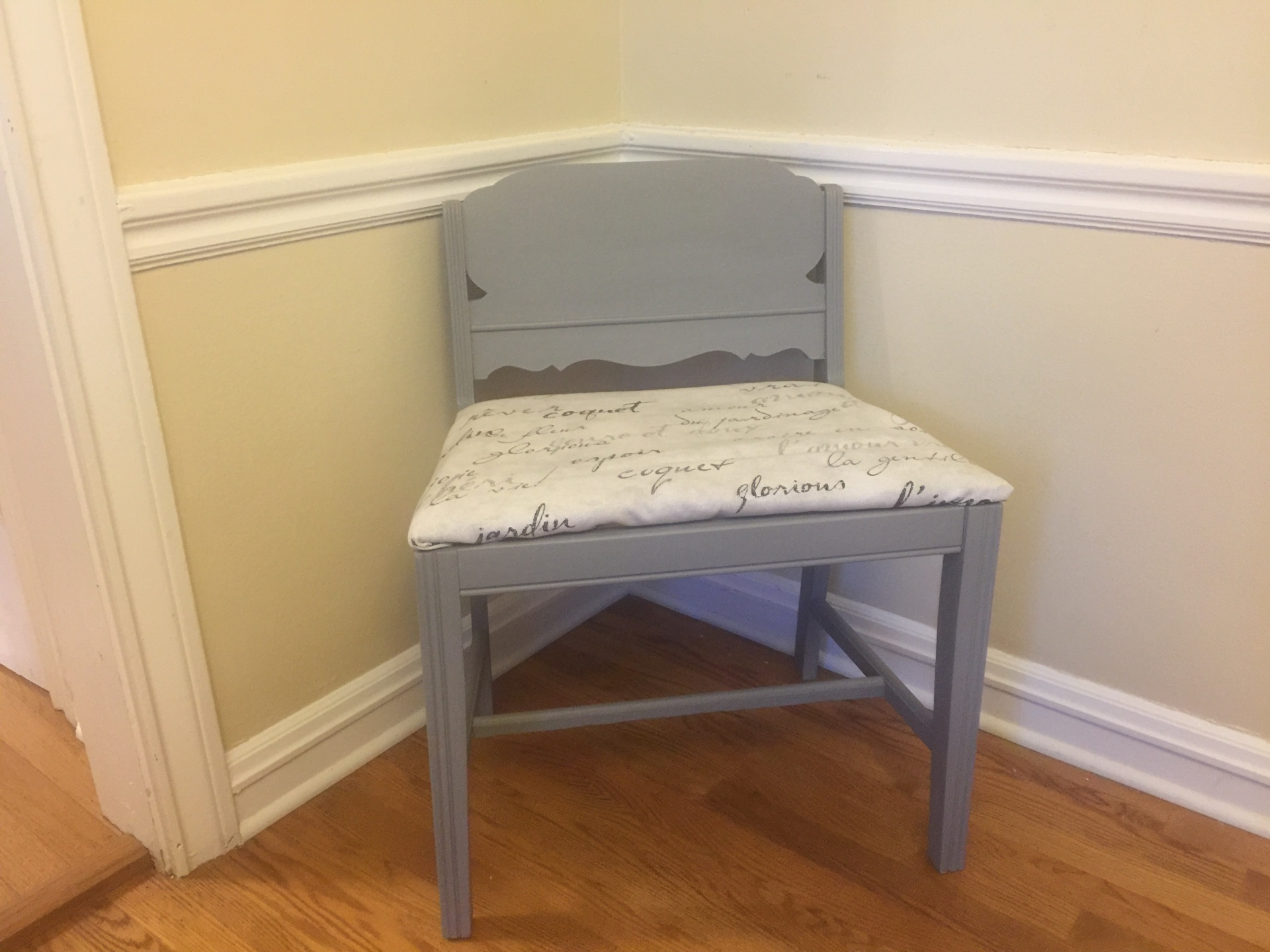 Gray Accent Chair  $55