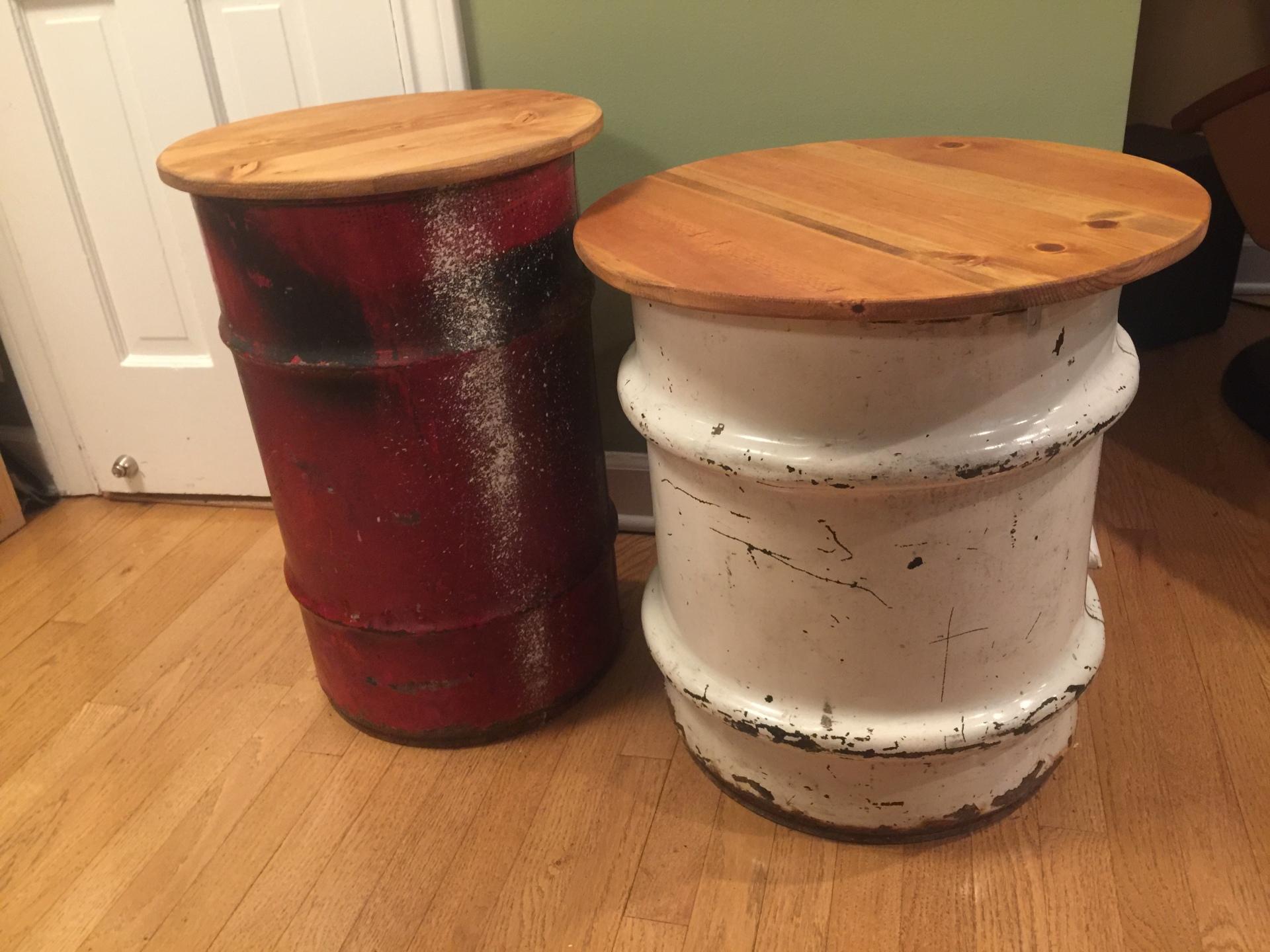 Barrel End Tables - $160