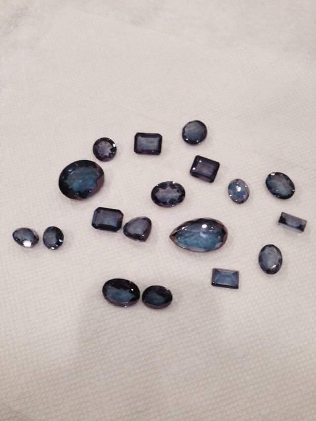 Aqua Aura Faceted Gem Stones