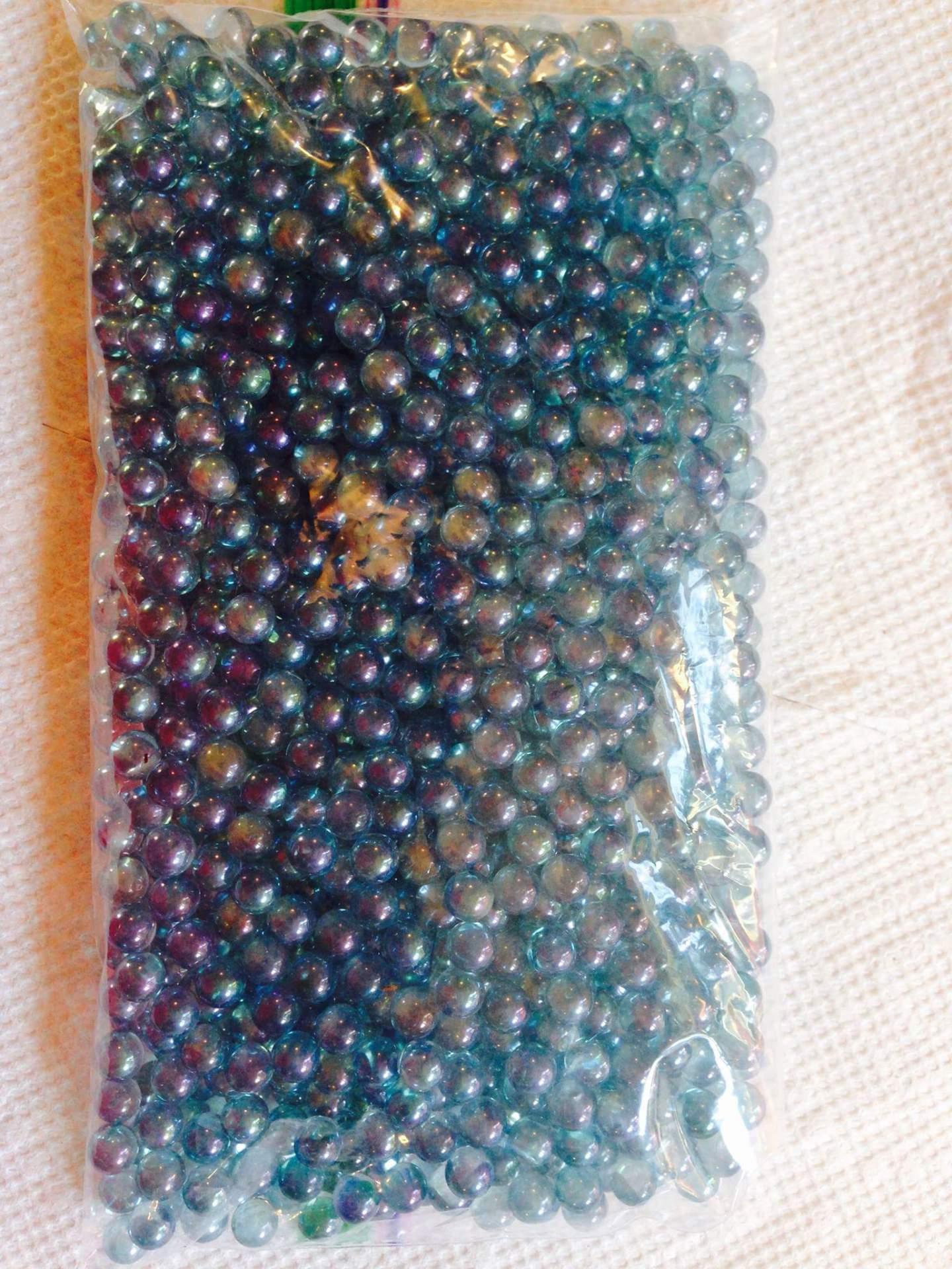 Aqua Aura Beads