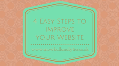 Snowball Analytics - 4 Easy Steps To Improve Your Website