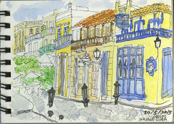 Havana, Cuba, Holiday, Sketchbook, Watercolour, Pen