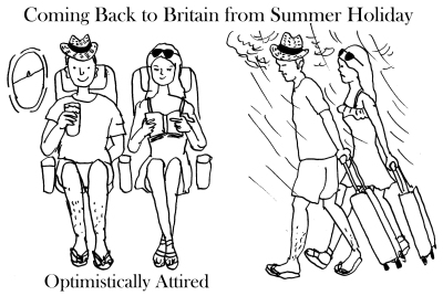 Brits coming back from summer holidahy