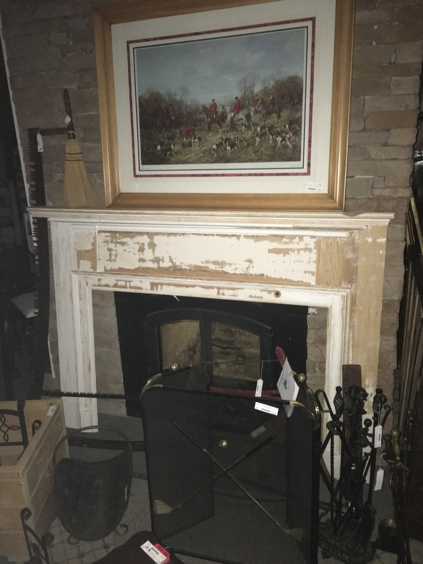 Classic Unfinished Fire Place Mantel