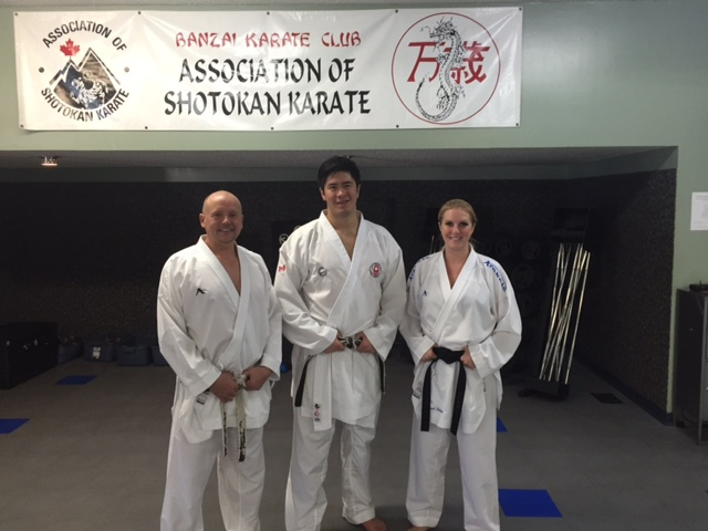 Sensei Chris Walker, Sensei Chris De Sousa Costa and Sensei Kristie Schafer