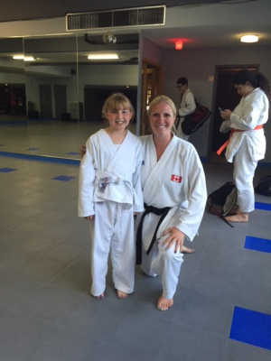 Emily at her first grading