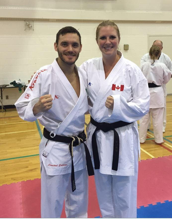 Sensei Kristie with World Champion Douglas Brose