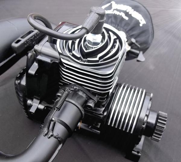 Red Arrow USA billet head revolver 34cc CNC super mod, Detroit Performance RC engines for sale