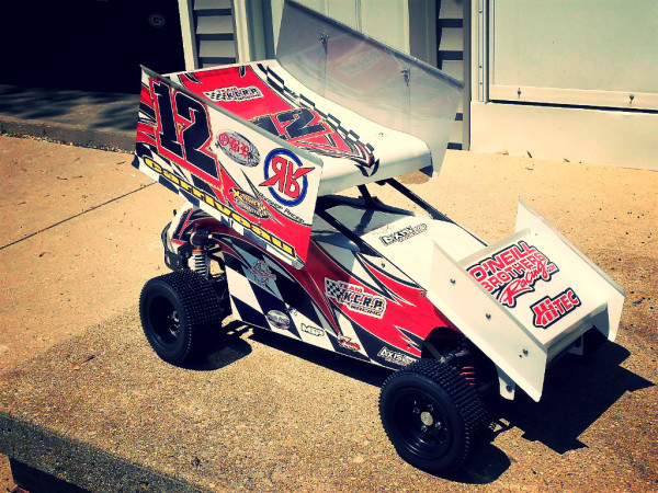 Bishop Racing Mini pins, RC sprint Car, Jeff Carriveau, Booster