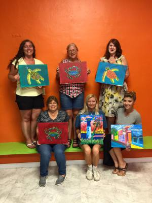 Beaufort, Lowcountry, Things to do. Wine and Paint Classes, Art, Designs, Pictures, Kids Parties, Black Light paint nights. Glow in the dark Paint party. Anzhelika Vardi, Girls Night out. Couple Paint Date. Blacklight fun. Wine Your Art Studio. Workshops.