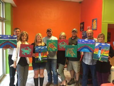 Wine and paint class, girls night out, date, fun, beaufort