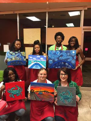 Beaufort, Lowcountry, Things to do. Wine and Paint Classes, Art, Designs, Pictures, Kids Parties, Black Light paint nights. Glow in the dark Paint party. Anzhelika Vardi, Girls Night out. Couple Paint Date. Blacklight fun. Wine Your Art Studio. Workshops. t