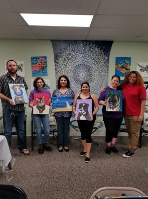 wine and paint classes, art, fun, parties, beaufort, Wine Your Art Paint and Sip paint my pet black light party, baufort sc