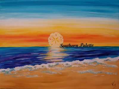 Sandollar Sunset-Level 2  $40 (16x12)