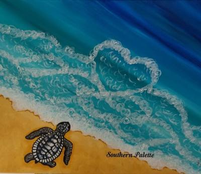 Turtle Love-Level 1  $40 (20x16)