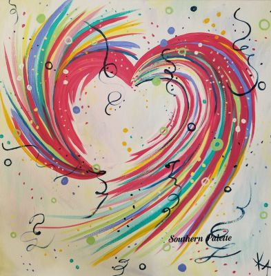 Abstract Heart-Level 1  $40 (14x14)