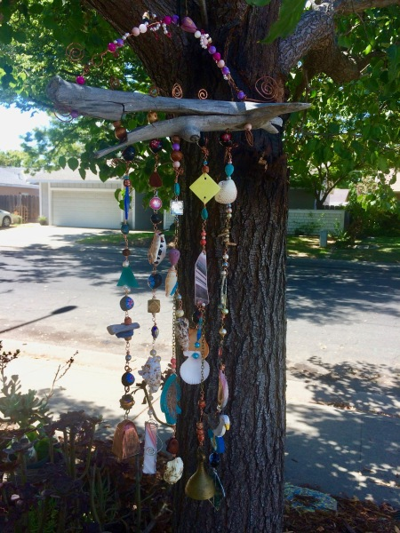 Split driftwood wind chime