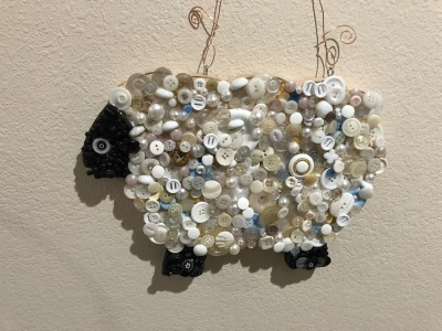 the lamb project.. buttons are fun!