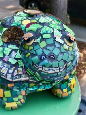 New turtle mosaic sculpture