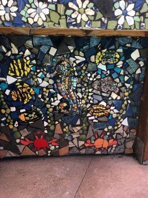 The back yard ... mosaics galore!