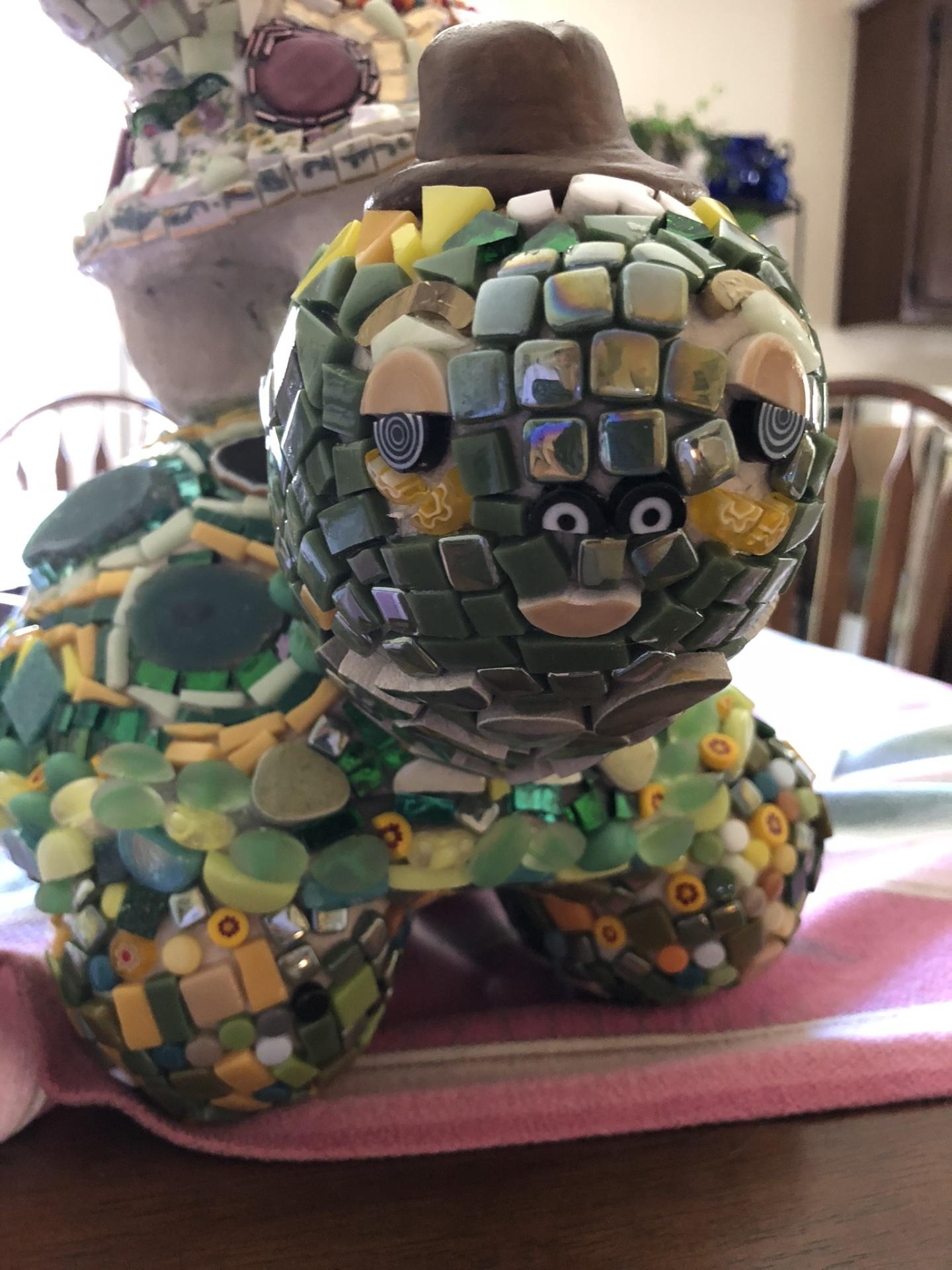 New 3 turtle mosaic totem.