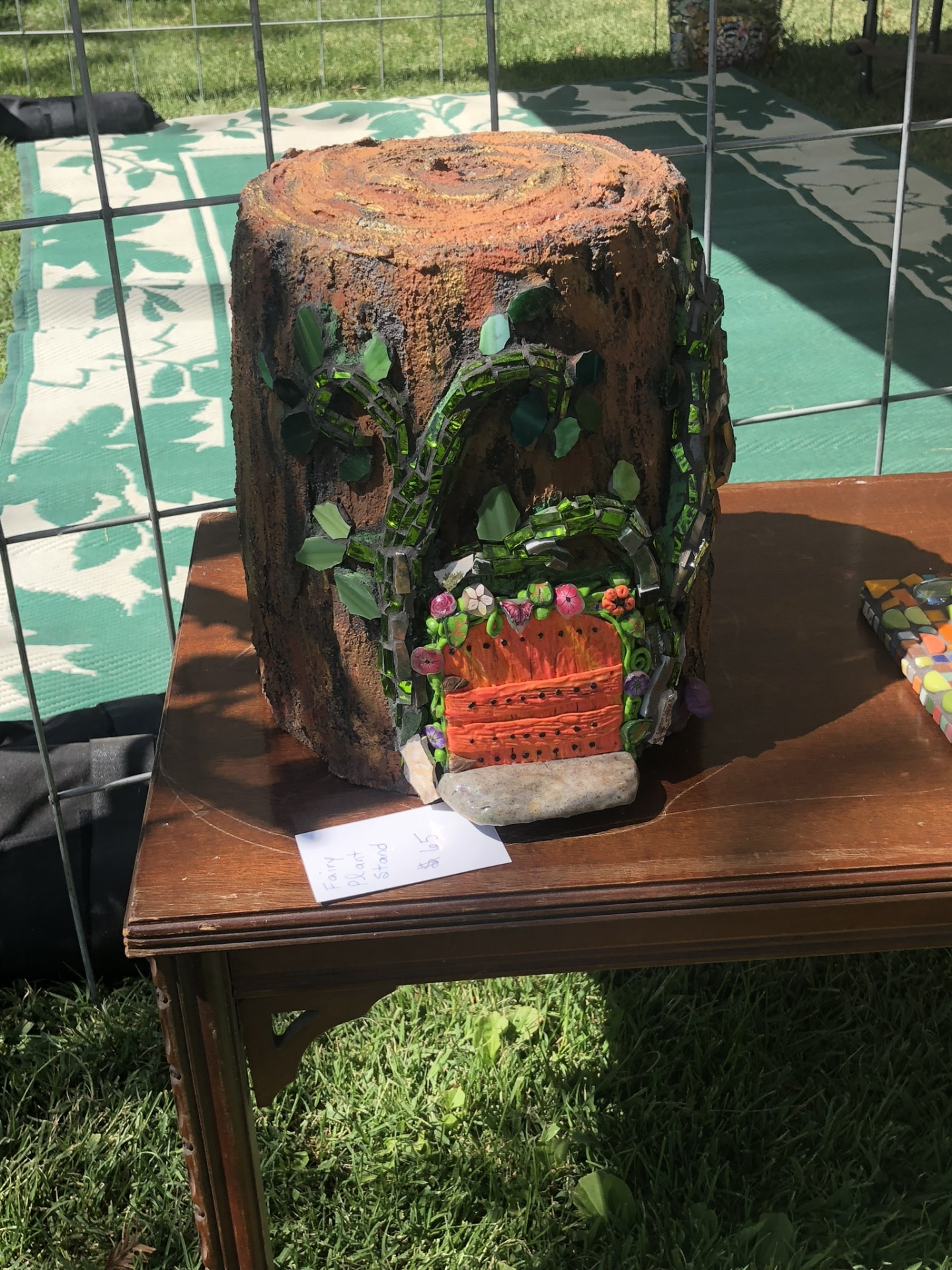 New How To Video: How to make a concrete fairy house/tree stump plant stand