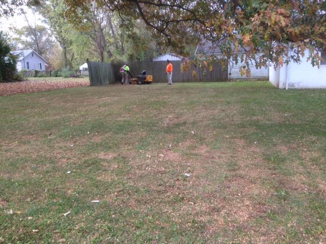 leaf removal Evansville, Newburgh Indiana