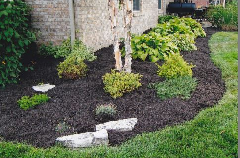 Mulching bed services Newburgh and Evansville Indiana