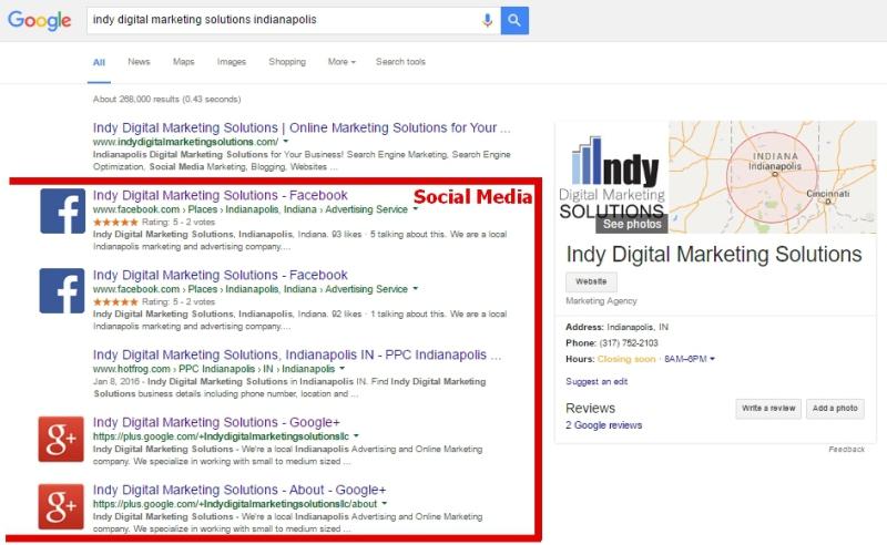 social media management, web presence Indianapolis