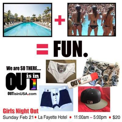 Lesbian Pool Party