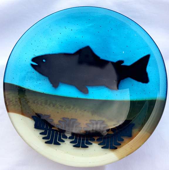 Native American, Fused Glass, Yurok, Bowl, Nature Inspired