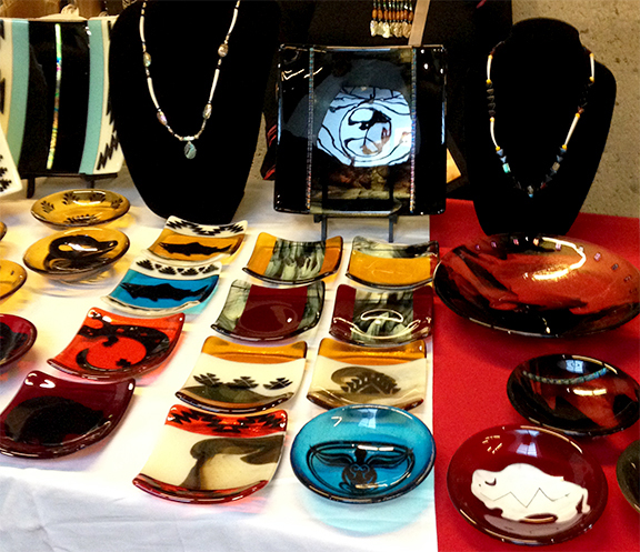 Fused glass, Yurok, Native American, Craft fare