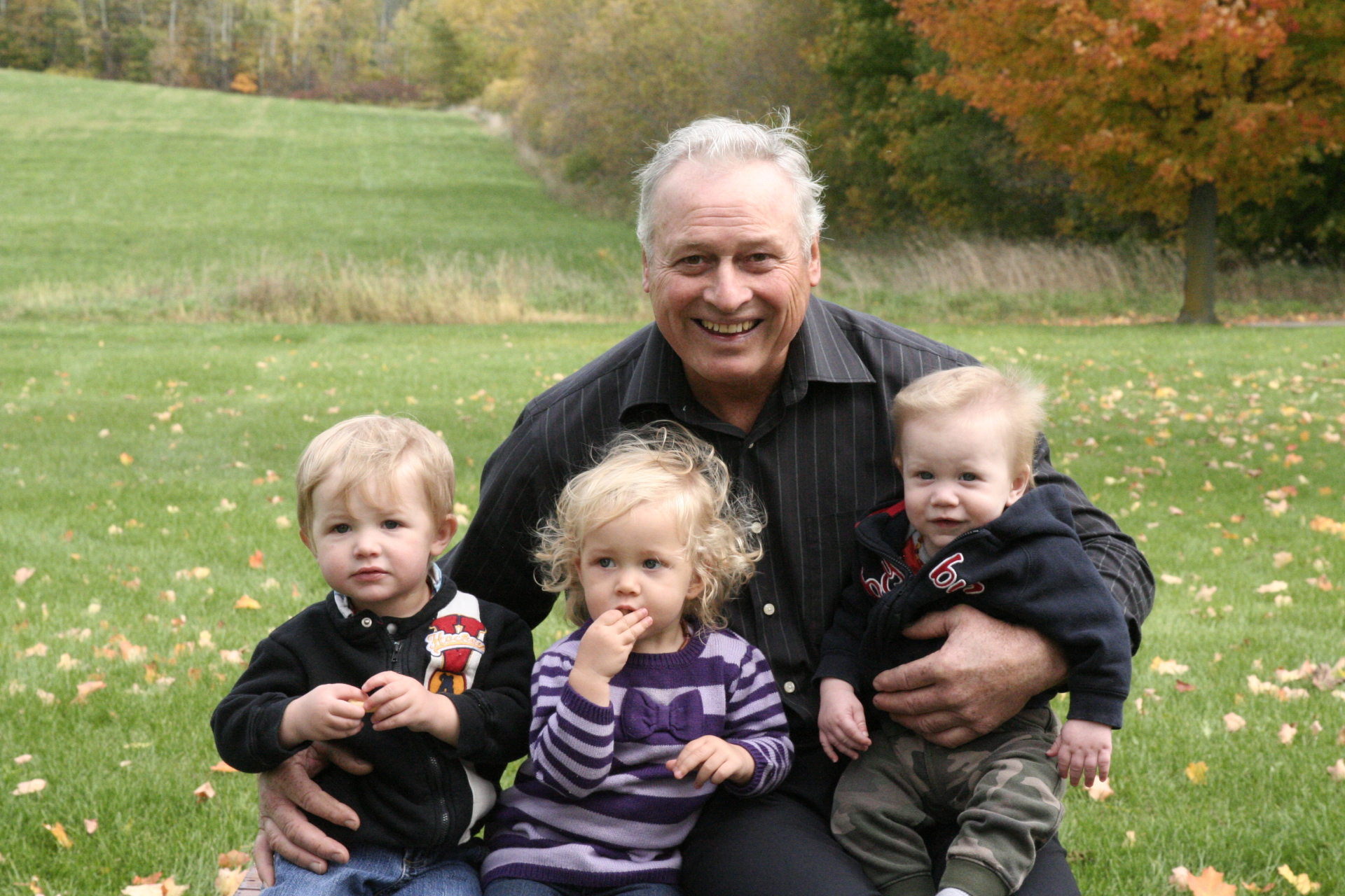 Papi with his three grandkids - fall 2015