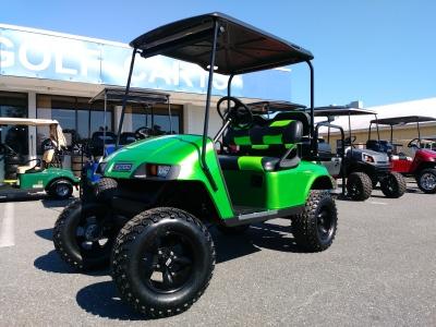 monster  synergy green txt custom ezgo golf cart