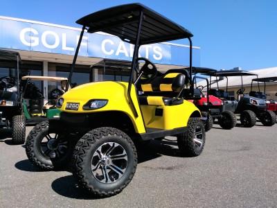 yellow txt custom ezgo golf cart