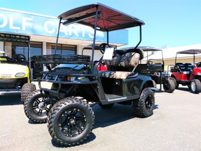 hunter camo txt  green dark custom ezgo golf cart