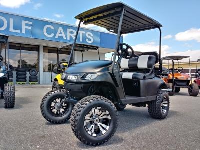 matte hot rod black custom ezgo golf cart