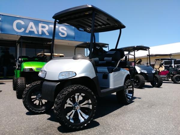 Silver rxv golf cart