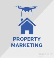 Image of a drone over a property