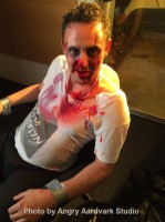 man with movie makeup special effects