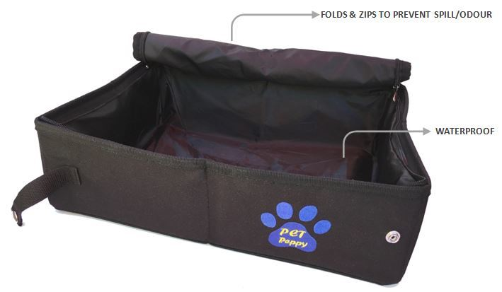 PORTABLE CAT LITTER CARRIER                                                               Retails for: $39.99                            Our Price: $16.99    (30% OFF!)