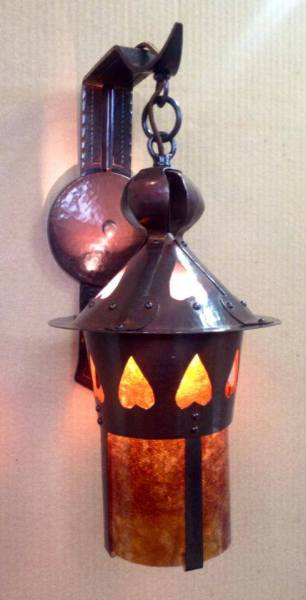 Stickley Heart Lantern Sconce